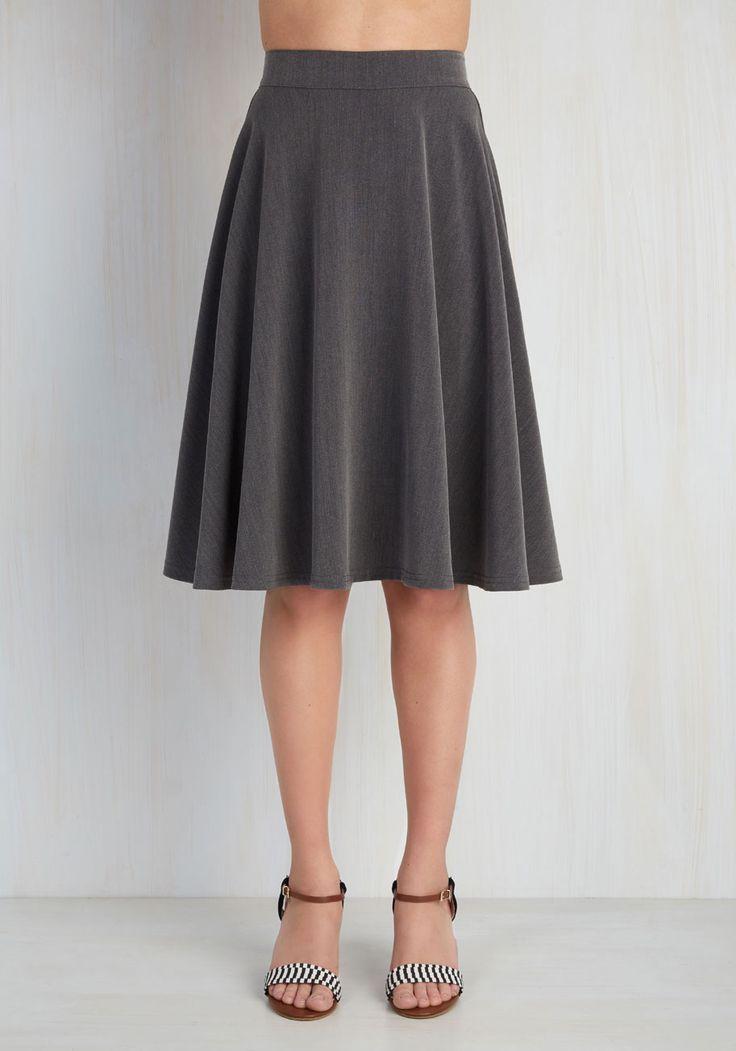 Bugle Joy Skirt in Grey, @ModCloth