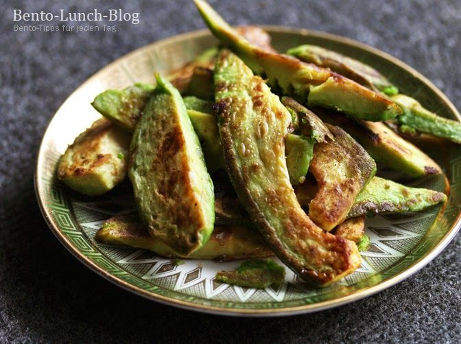 Bento Lunch Blog: Rezept: Gebratene Avocado mit Sojasoße