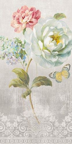Textile Floral Panel I Danhui Nai