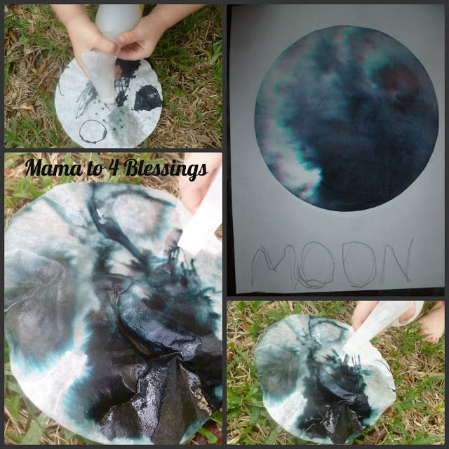 Make a moon, night time activity. Coordinate with a book