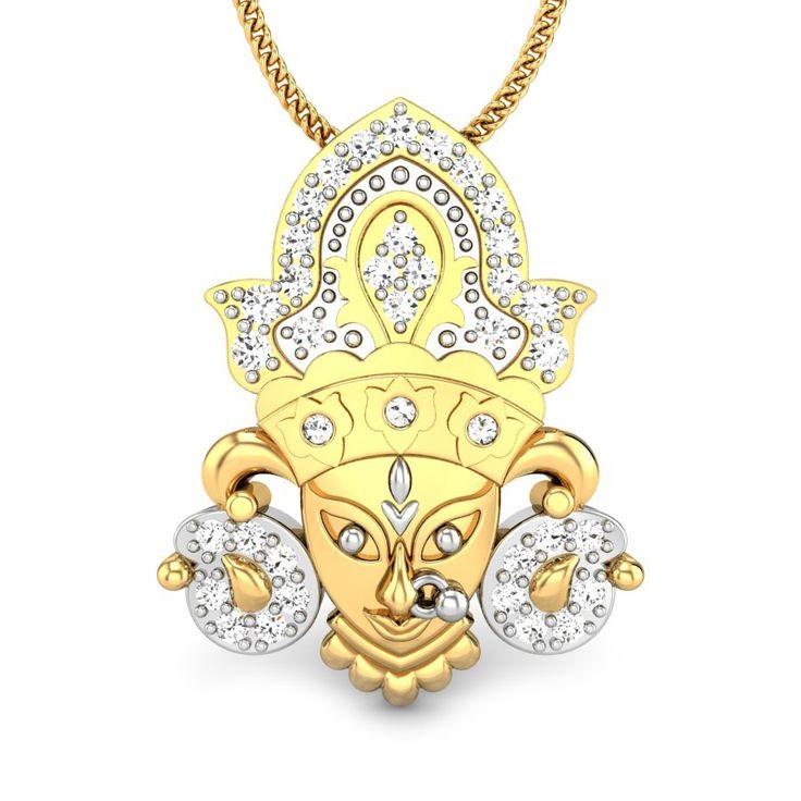 Durga Shakti Diamond Pendant