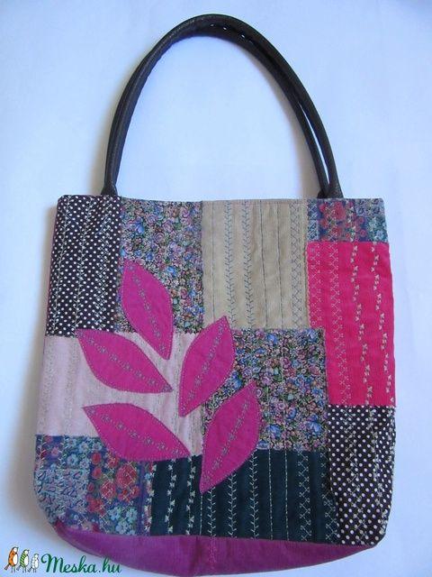 Pink kollázs táska (silvanafoltvarras) - Meska.hu