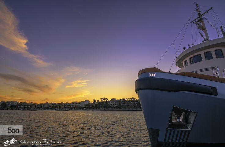 Sunset in Kos harbor by Christos Petalas on 500px
