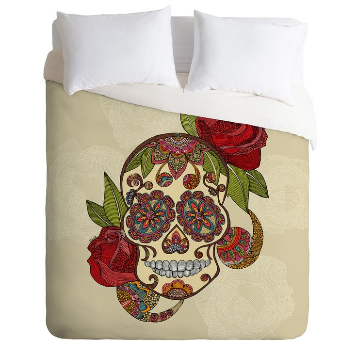 Why Are Throw Pillows So Expensive : Valentina Ramos Sugar Skull Duvet Cover .tyxgb76aj