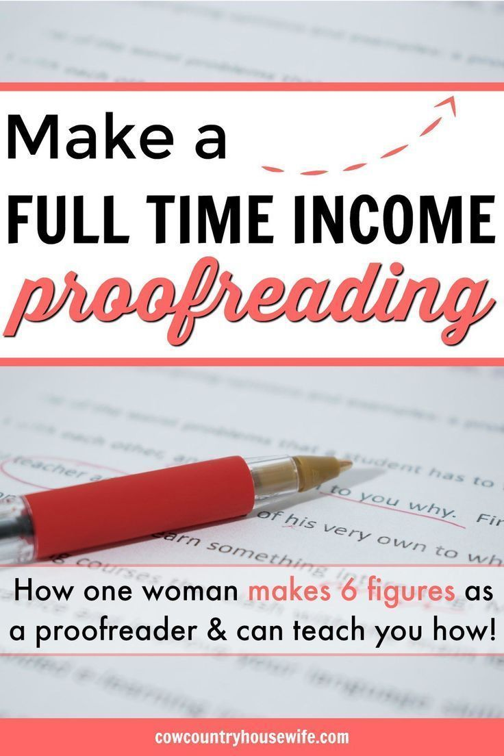 Make a Full Time Income Proofreading – Jennifer | Our Big Family Life