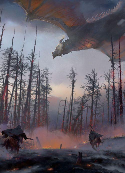 Dragon Hunters by Findara McAvinchey (Fantasy Art Watch)