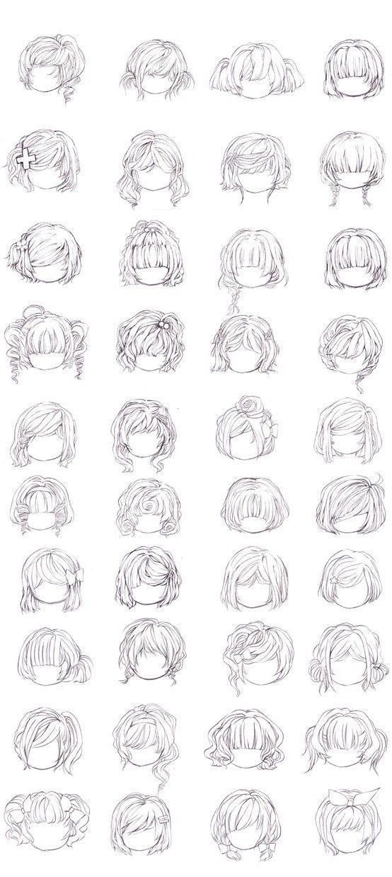各种发型…_来自KOALA睡不着的图片分享-堆糖网