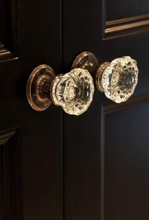 Vintage Crystal Door Knobs