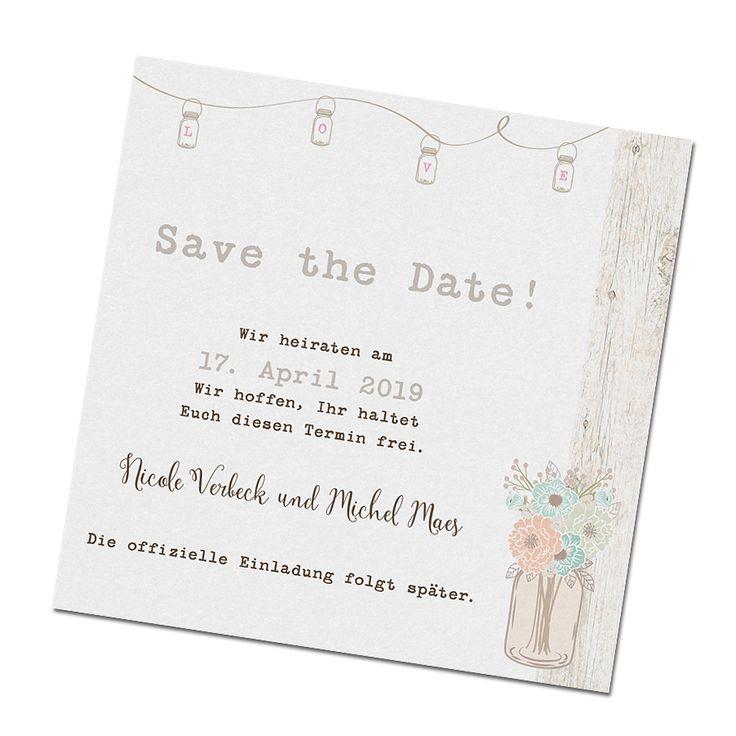 "Save the date Karten ""Green Wedding"" bestellen"