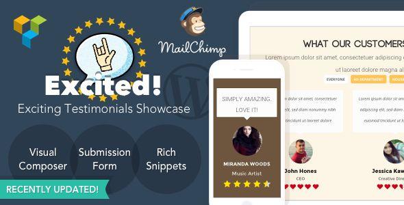 Excited! — Testimonials Showcase for WordPress