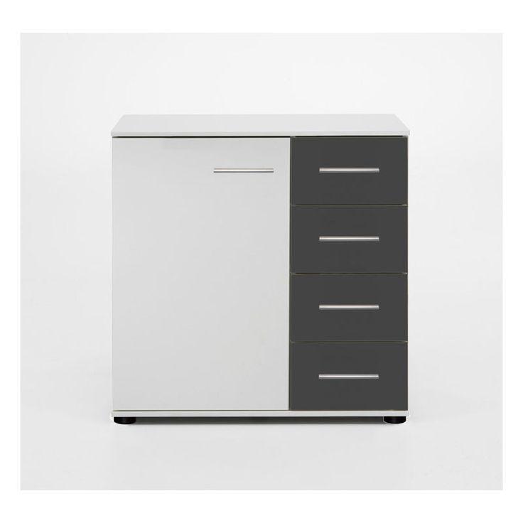 Commode De Rangement Coloris Blanc 81 X 41 X 83 Cm Pegane Blanc Cmpegane Coloris Commode Rangement Avec Images Rangement