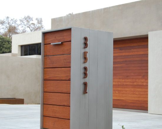 find this pin and more on mailbox decoration shocking modern wooden mailbox ideas