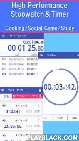 "Multi Timer - Stopwatch Timer  Android App - playslack.com ,  ■ OverviewHigh-performance full is a free timer app.Basic stopwatch, timer from,Until the simultaneous operation timers and active in various situations.""I want to measure the time as a stop watch for running""""I want to use as a kitchen timer""""I want to use a social game date specified timer""""I want to use the alarm function""Solve all in a multi-timer ♪Please try those looking for a stopwatch / timer Come.■ Features・Conservation…"