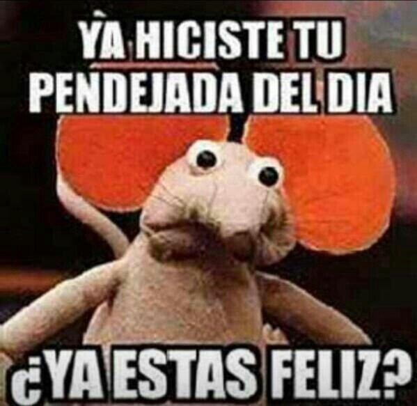 Ya estas feliz?