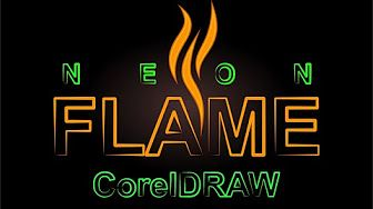 corel draw-neon text - YouTube