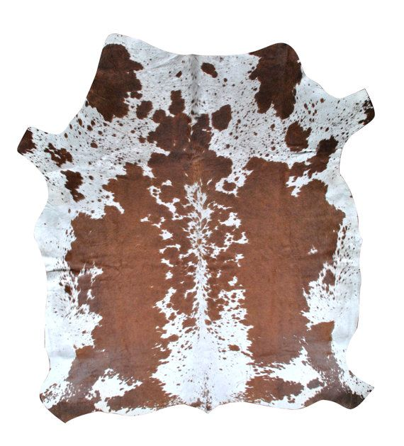 Nguni Cowhide Rug from South Africa, Unique brown and white cow hide rug by Herdboi