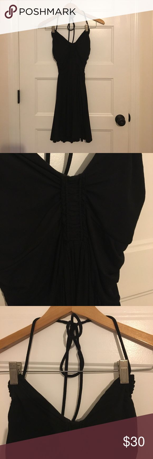 VICTORIAS SECRET Little Black Dress NEVER WORN - LBD w/ built in strapless bra - form fitting and flattering - adjustable neck tie Victoria's Secret Dresses Strapless