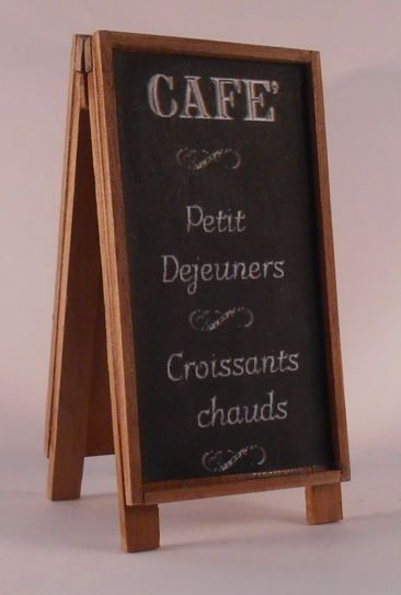 Cafe Blackboard by Cimen - $31.75 : Swan House Miniatures, Artisan Miniatures for Dollhouses and Roomboxes