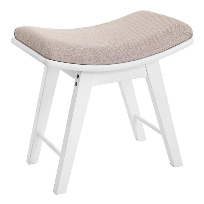 Enjoyable Songmics Vanity Concave Seat Surface Makeup Dressing Stool Beatyapartments Chair Design Images Beatyapartmentscom