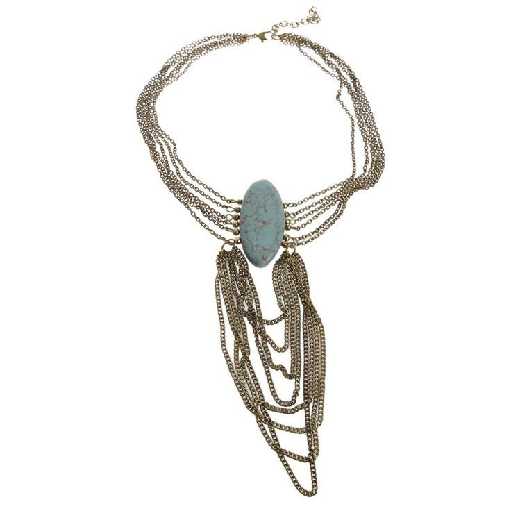 CHOKER W/ BLUE STONE - Necklaces - Jewellery - Accessories