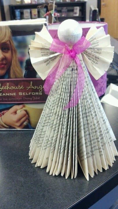 Coffehouse Angel book club craft.  We made a book angel :)