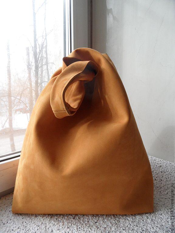 Купить ПАКЕТ-МАЙКА охра - рыжий, сумка-пакет, сумка-авоська, сумка
