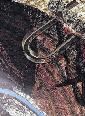 Yellowstone-Skywalk at the West Rim of the Grand Canyon. It's suspended 4,000 feet above the Colorado River allowing one to have a 720 degree view, through the glass floor, of the Canyon!!!!
