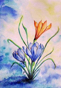 Blue spring by Adriana Mijaiche