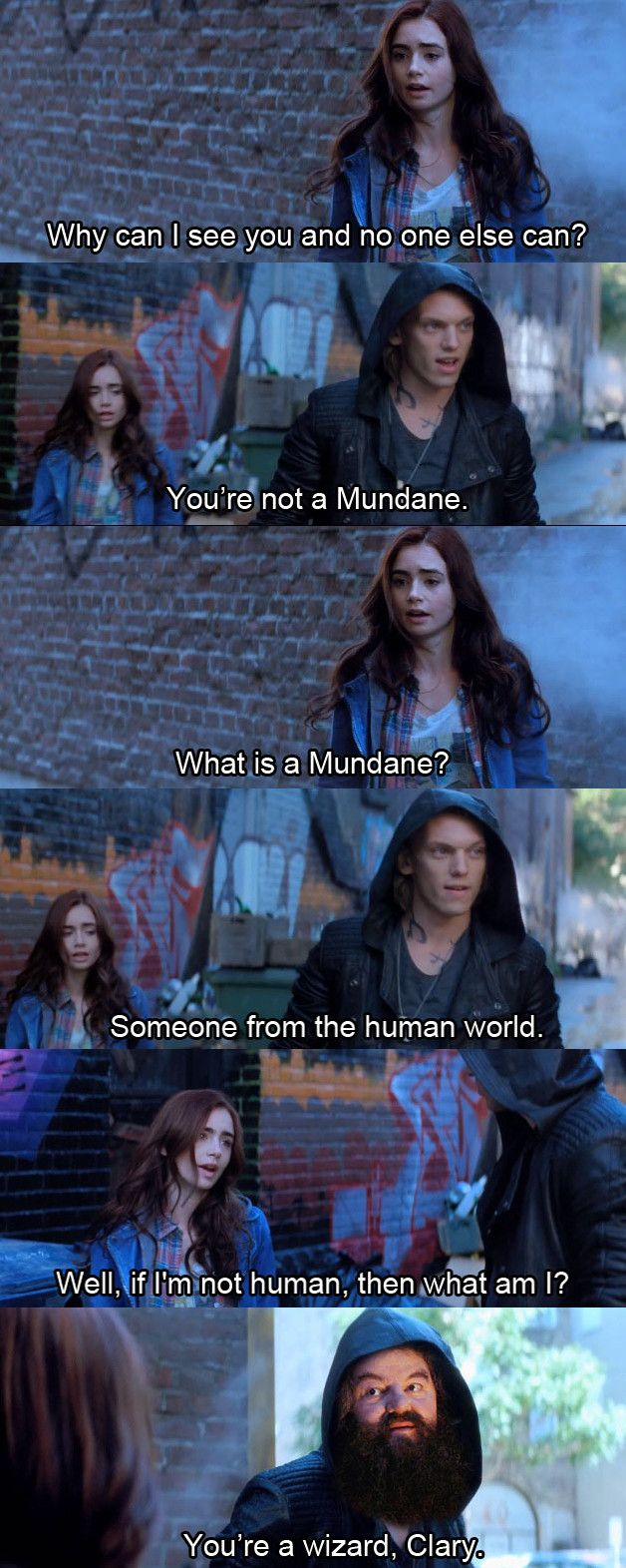I saw The Mortal Instruments: City of Bones over the weekend. Was I the only one who thought of this? - Imgur
