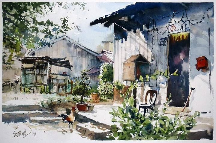 Watercolor By Koay Shao Peng Malaysia Watercolor Sketch