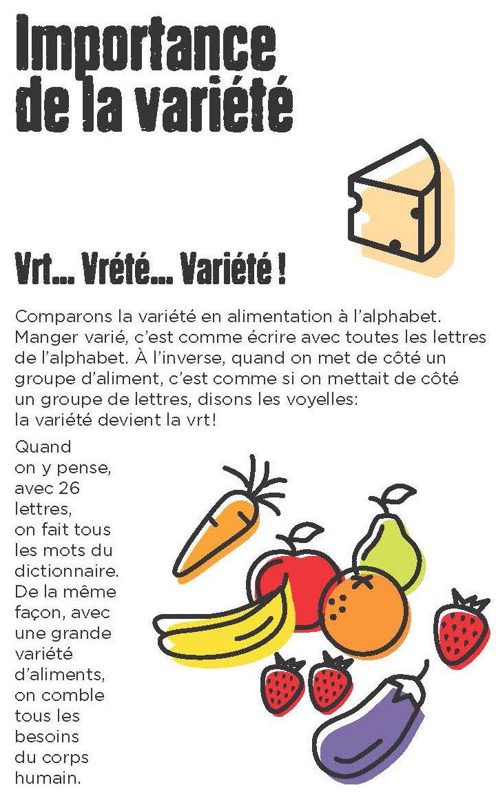 La variété en alimentation est essentielle et toujours la bienvenue dans la boîte à lunch :  http://www.gardescolaire.org/outils/importance-de-la-variete/ #gardescolaire #repas #enfant #nutrition