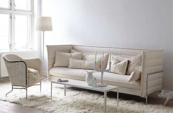 -: Shades Of White, White Sofas, Color, Living Room, Cushions, Decoration Design, Livingroom White, Studios Couch, Kid
