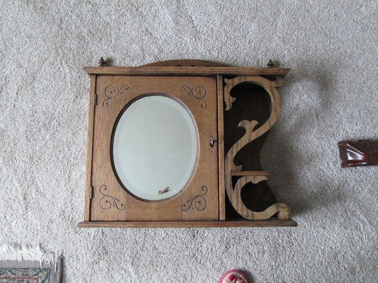 Beautiful Victorian Medicine Cabinet with Mirror Beveled Edge | eBay