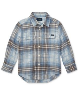 Ralph Lauren Plaid Cotton Shirt, Toddler Boys (2T-5T) - White Multi 3/3T