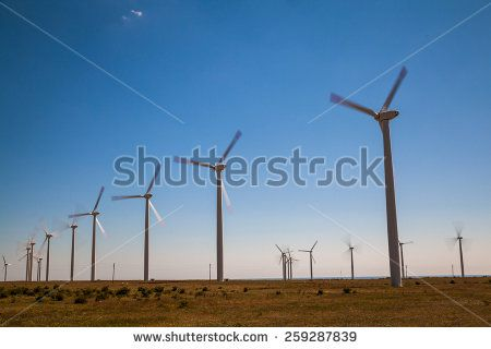 Long exposure of wind power station with HD Filter.