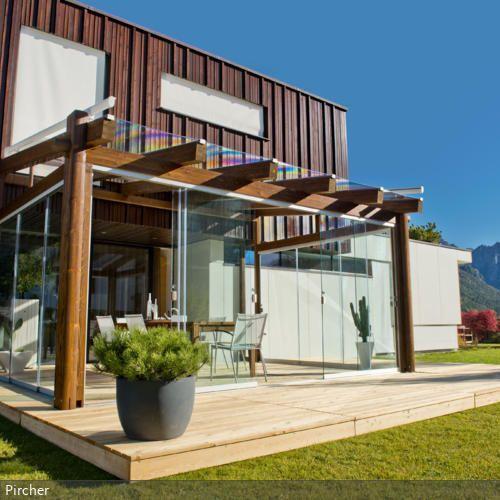 Ueberdachte Terrasse Aus Holz Im : Die besten terrassen schiebet?r ideen auf