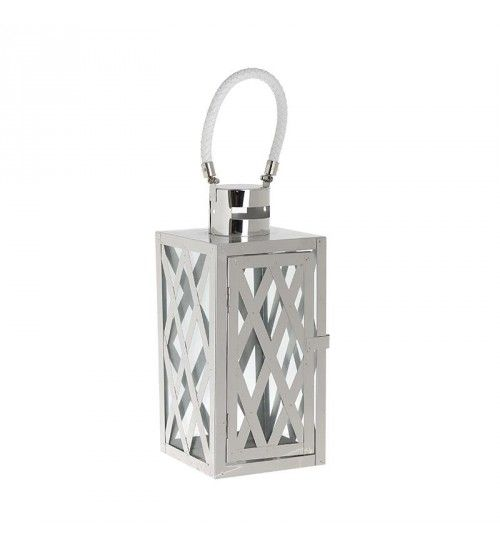 METALLIC LANTERN IN WHITE_SILVER COLOR 12X12X27_37