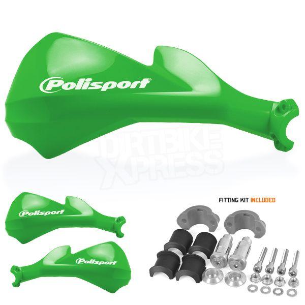Polisport Sharp Handguards - Green