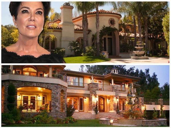 Kris jenner real house front and fake one used on kuwtk for House look from outside