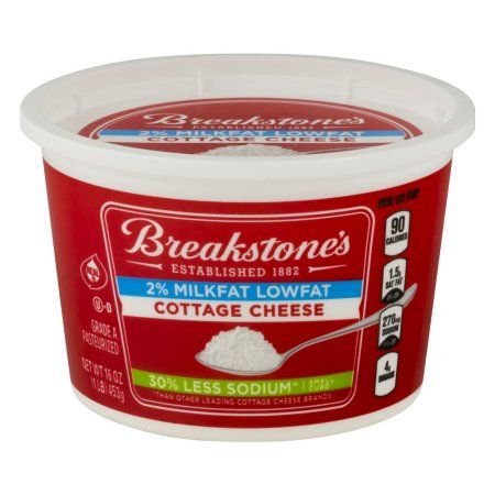 Breakstone's Cottage Cheese 2% Milkfat Lowfat 30% Less Sodium, 16.0 OZ