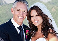 Gary & Danielle Lineker - Suzanne NevilleThis is our all time best selling veil, raw edge, with the tiniest Swarovski crystal scattering.