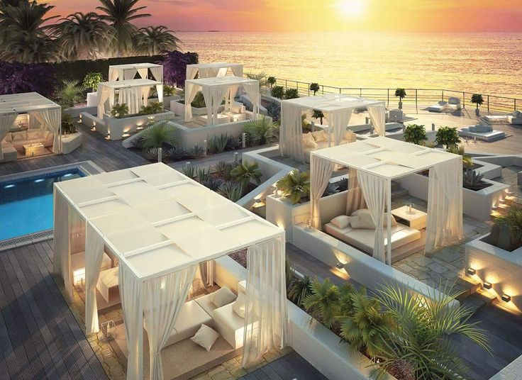 Fantastic Italian made Cabanas from Giulio Barbieri - available from www.stretchstructures.com