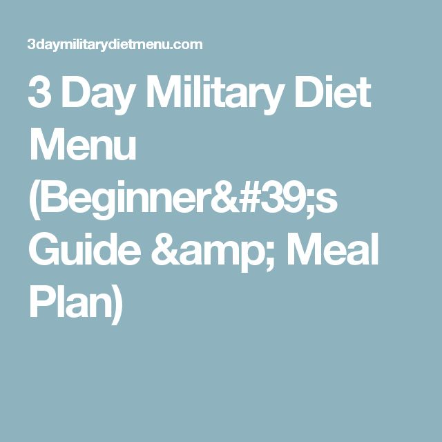 Militär-Diät: Bis zu 5 kg in 3 Tagen verlieren