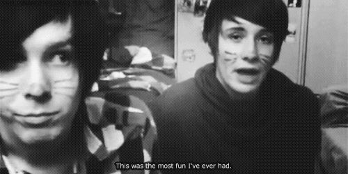 """Have you ever been in love? """"I'd say three times. Maybe once can't count as real love. Then the next was, but it wasn't happy love. Then the third time is the best time ever. Real, true, requited love which is the best feeling in the world."""" - Dan Howell 2009"""