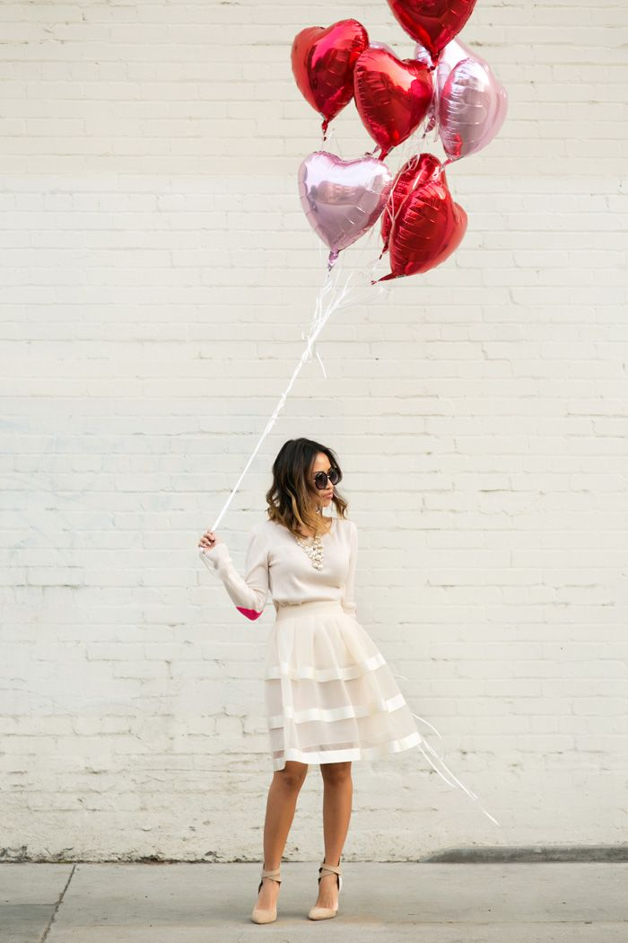 petite fashion blog, lace and locks, los angeles fashion blogger, morning lavender skirt, cute flare skirts for women, valentine's day outfit, heart sweater