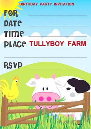 Tboy farm bday invite