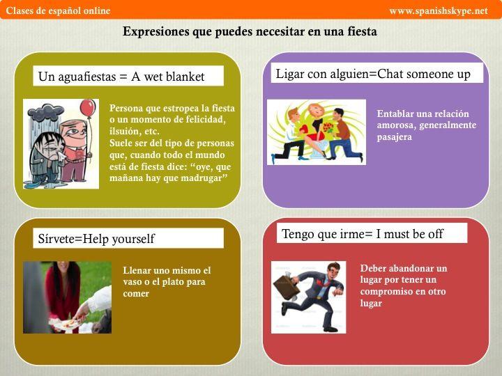 Expresiones para una fiesta - Spanish Skype Lessons « Spanish Skype Lessons