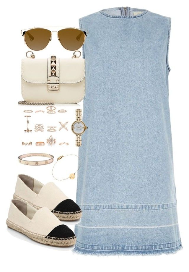 """""""Untitled #2266"""" by theeuropeancloset on Polyvore featuring River Island, Valentino, Christian Dior, Tory Burch, New Look, Cartier, Marc Jacobs and Miriam Merenfeld"""
