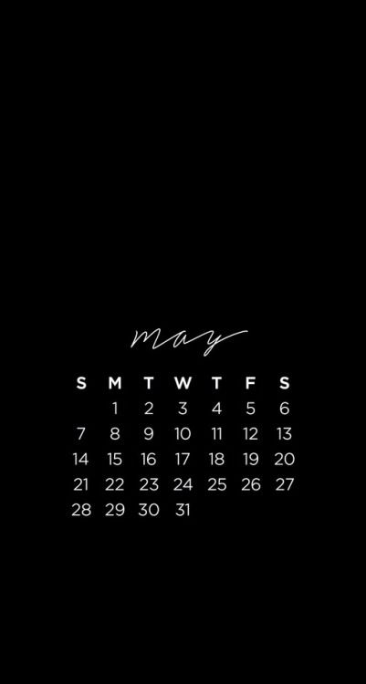Studyblr resources: Phone Calendar wallpapers