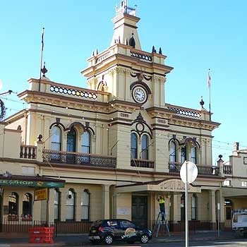 "Mum and Dad had their wedding ""breakfast""  at the Glen Innes Town Hall."